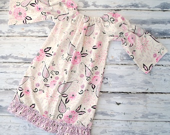 Girls Peasant Dress with Ruffles Springtime in Paris