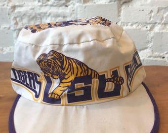 Vintage LSU Hat / Fighting Tigers / Louisiana State University / Bicycle Cap / 80s 90s / Geaux / Cajun