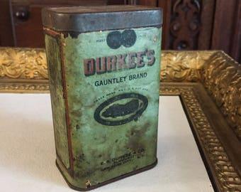 Vintage Durkee's Gauntlet Brand Tin