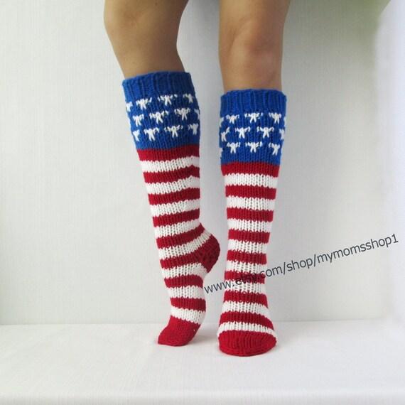 4. Juli Zubehör Socken Unabhängigkeitstag. US-Flagge-Tag 14