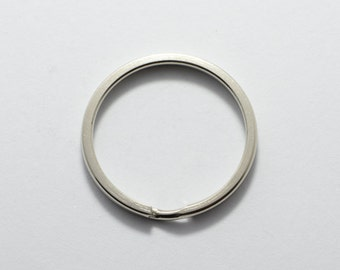 30pcs Keyring Split Rings in Silver Tone, Keychain, 25mm Round, Metal Loops. Great Findings Supplies #SD-S7401