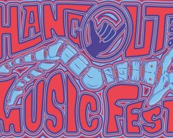 2016 Hangout Music Festival Poster