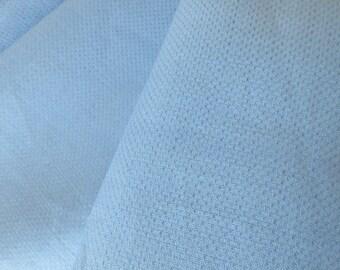 "VINTAGE LINEN tea towel fabric Sky Blue 18"" X 17.5 """