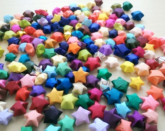 100 Multi-colored Origami Stars