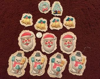 Vintage Paper Mache Christmas Ornaments XM6