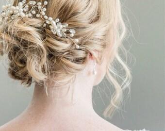 Bridal Hairpins, Bridal Hairpiece, Hair Vine, Bridal Halo, Bridal Headpiece, Freshwater Pearl Bridal Hairpins, Bridal Hair Pins