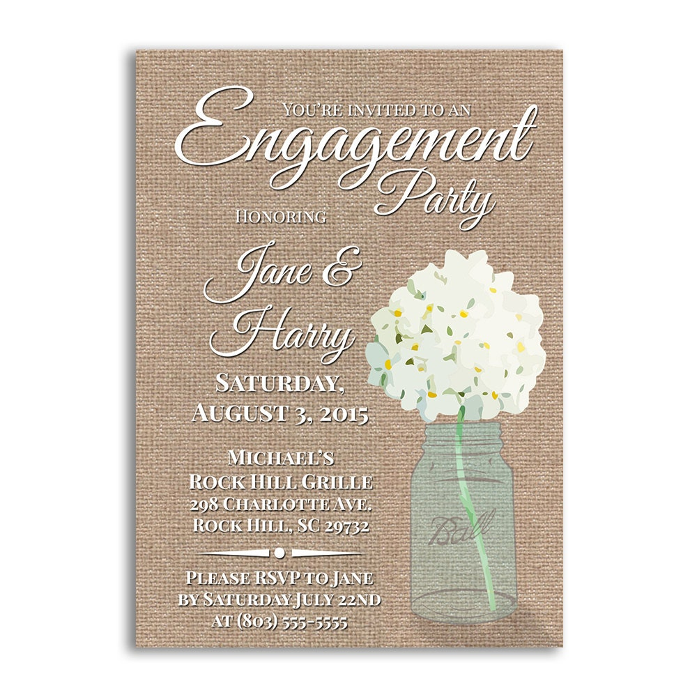 Engagement Party Invites Engagement Party Ideas Burlap