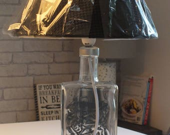 Mr Black (upcycled) Coffee Liqueur Bottle Lamp