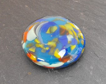 Perl.1643 Pearl paste glass cabochon.