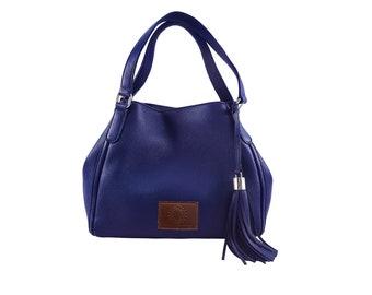 Leather Handbag - Hobo Bag - Leather Hobo Bag - Leather Bags Women - Leather Purse - Leather Bag - Handbag Blue - Shoulder Bag - Blue Bag
