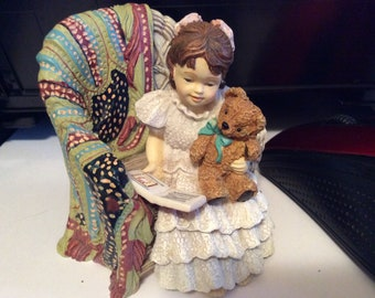 """Sandra Kuck's """"Treasures"""" Collection """"Teddy & Me"""" 1997 Collectible Figurine Excellent Condition"""