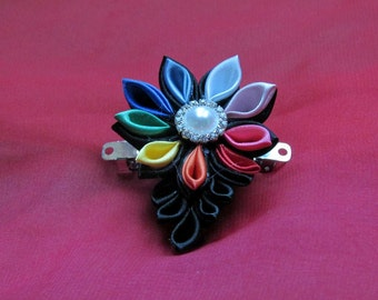 Black Kanzashi Flower