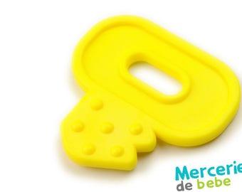 Yellow decorative element - shaped key - C23 - J5
