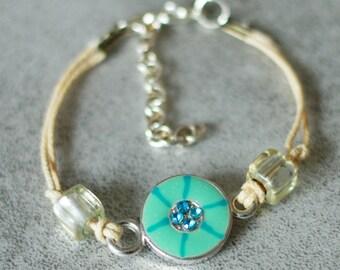 Bracelet child blue Medallion