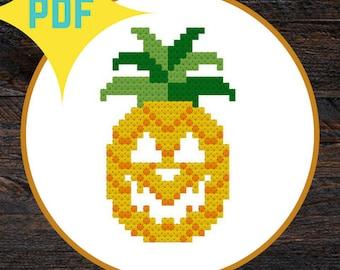 Pineapple Jack-o-lantern Halloween PATTERN DOWNLOAD