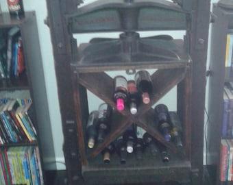 Antique 1830s BookPress Made into Wine Holder