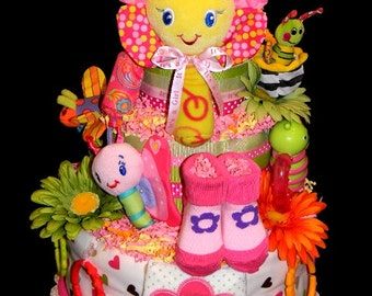 Flower Garden Diaper Cake