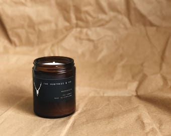 Marrakech - Soy Candle - Amber Jar - Bohemian - Hand Poured - Small Batch - Soy Wax - Mandle