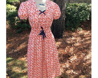 WWII era Reproduction sundress made from a 1943 pattern