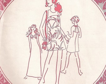 """An Early '70's Sleeveless or Halter Dress Sewing Pattern w/3 Length Variations: Uncut - Junior Size 13, Bust 35"""" • Patterns Pacifica 313"""