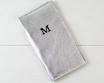 Personalized Leather Travel Wallet | Custom Gold Leather Passport Holder Monogram Passport Wallet Passport Cover Bridesmaid Gift for Mom Her