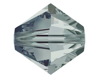 Black Diamond - 5mm - Swarovski Crystal Bicone - 5301