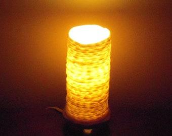 translucent cylinder ceramic handmade porcelain lamp- CUSTOM ORDER