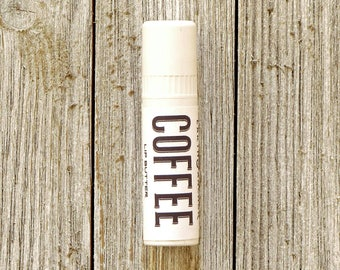 Coffee Lip Butter Tube || Cocoa Shea Butter Chapstick || Gifts Under 10