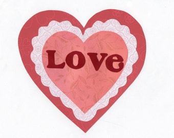 Valentine's Day Love Heart Applique Template