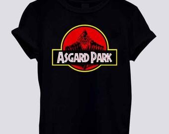 New asgard park parody thor ragnarok T shirt tee Men