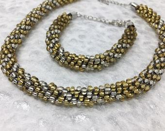Metallic Choker And Bracelet Set