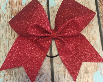 Large Glitter Cheer bow You Pick Your Color