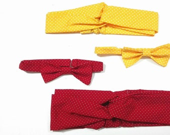 Bow tie and polka dot Headband