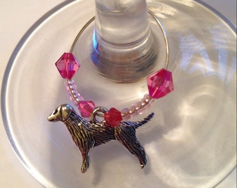 Labrador Dog Wine Glass Charm