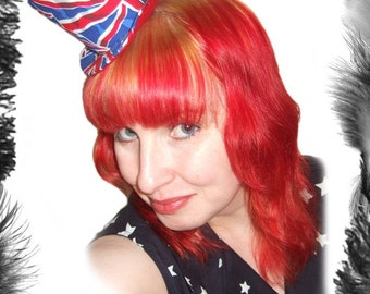 Union Jack Burlesque Mini Top Hat
