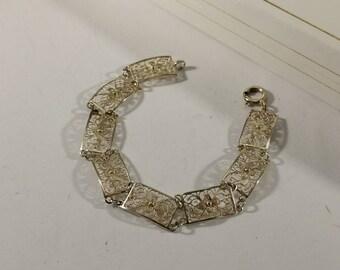 Bracelet Antique 835 Silver Art Nouveau filigree antique SA227