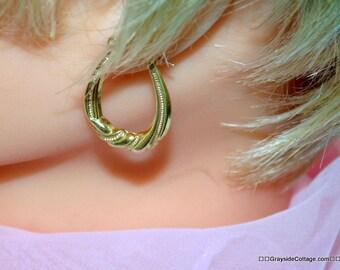 14k Gold Hoop Earrings • Yellow Gold Earrings • Gold Hoop Earrings  •  Hoop Earrings 14k • Twisted Hoop Earrings • 14k Gold Earrings •
