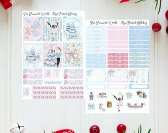 Frosted Holidays mini planner sticker kit - Mini Weekly Planner Kit - Mini Kit - eclp weekly kit planner stickers - vertical kit