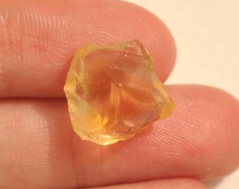 8.8cts Natural Citrine Raw 14x14mm, Rough Citrine Stone, Rough Orange Quartz Crystal Stone, Natural Gemstone, Citrine Crystal AD410