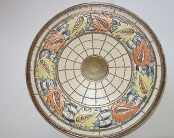 Huge Charlotte Rhead Iznik design pottery charger free shipping
