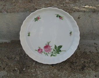 christine holm rose stoneware tart pan shabby cottage french country