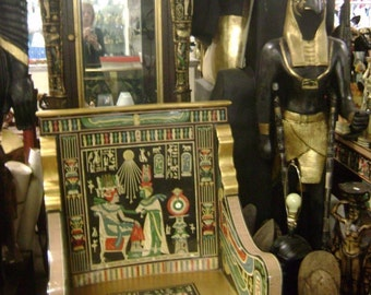 Unique Tutankamen's Golden Throne Made in Egypt One Of The Kind