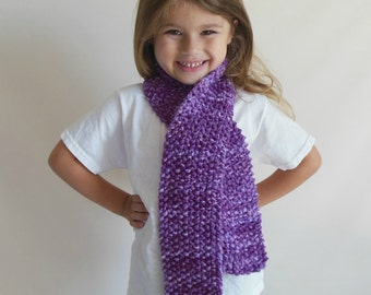 Custom Made to Order Double Knit Scarf in Toddler/Child Size--Many Colors Available