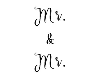 Mr. and Mr. Decal