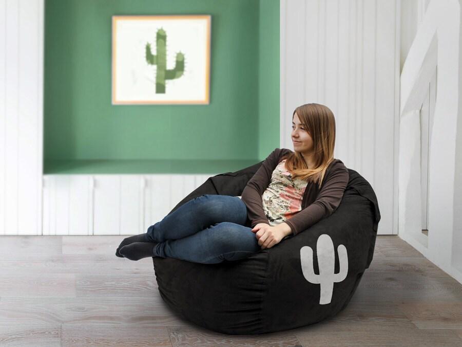 Cactus Bean Bag Cover Lounge Chair