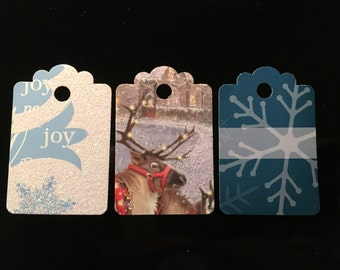 Winter/Holiday Gift Tags with Matching Twine