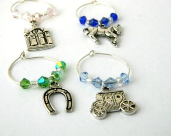 Fairy Tale Wine Charms Set of Four
