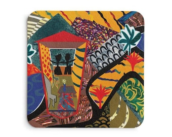 4 Coasters - Too Much Order Series from artist's original art.