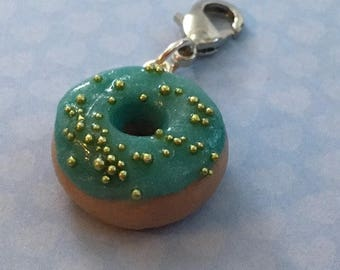 Blue and Green Doughnut polymer clay