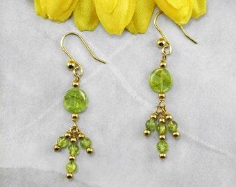 Spring Green Peridot Earrings